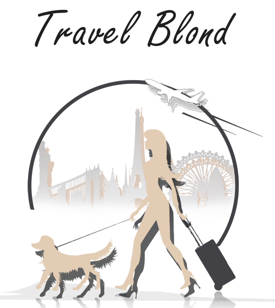 Travel Blond - transparent with text